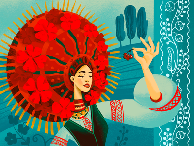 Ethnic Beauty: Ukraine digital artwork woman illustration illustrations ethnicity ukraine costume national woman culture ethnic procreate illustration art digital painting digital illustration illustrator design studio illustration graphic design digital art design