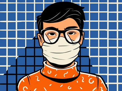 Life in Pandemic: Misted Glasses magazine illustration man health face mask pandemic glasses marketing branding creative agency illustrations creative illustration illustration art digital painting digital illustration illustrator design studio illustration graphic design digital art design