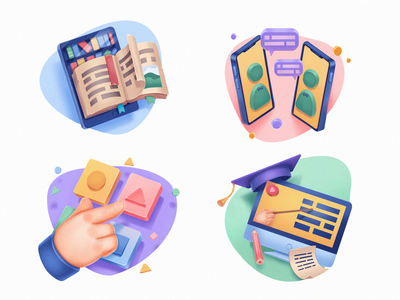 Education Service Icons ux design web icons educational study school online education education icons design icons illustrations procreate illustration art digital painting digital illustration illustrator design studio illustration graphic design digital art design