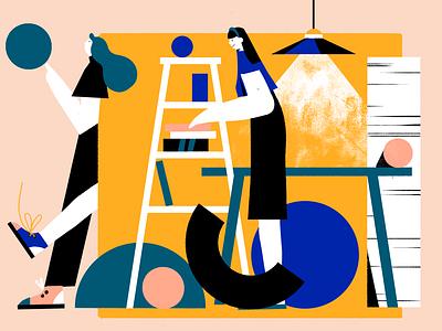 Geometric World Illustrations office geometric design geometric art illustrators creative process people designers geometry design process art illustrations illustration art digital painting digital illustration illustrator design studio illustration graphic design digital art design
