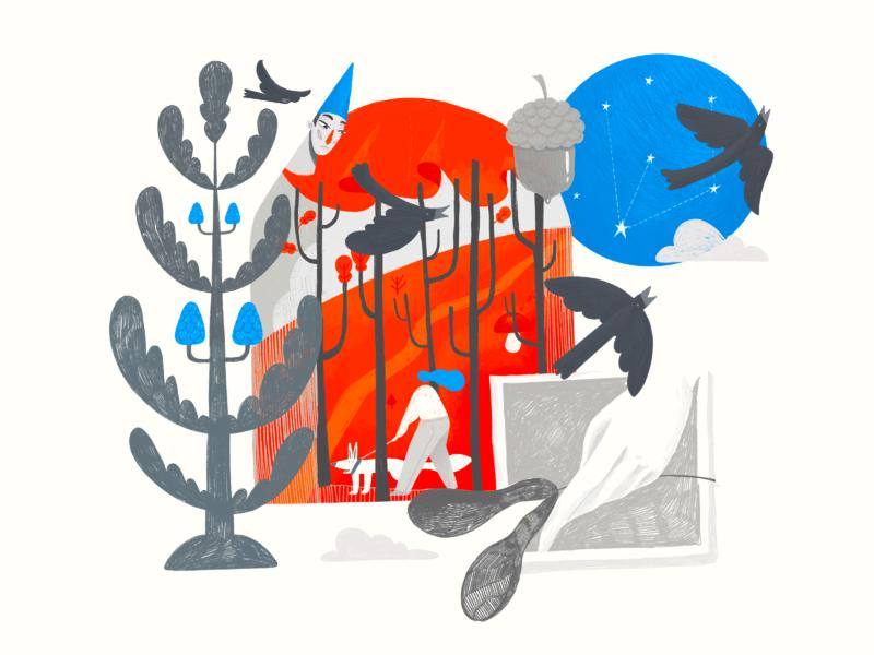 Art of Seasons: Autumn Illustration nature illustration forest art landscape environment fall autumn seasons nature illustrations procreate illustration art digital painting digital illustration illustrator design studio illustration graphic design digital art design