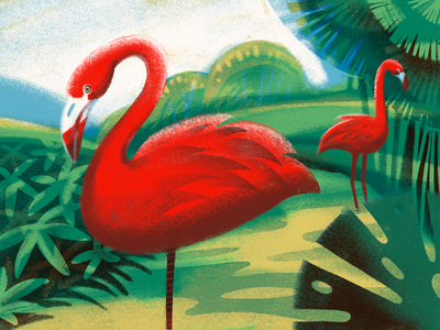 Flamingo Balance Illustration landscape digital artwork illustrations animals environment nature balance wildlife birds flamingo procreate illustration art digital painting digital illustration illustrator design studio illustration graphic design digital art design