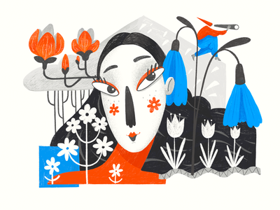Art of Seasons: Spring nature art artwork procreate art flowers landscape enviroment nature season spring procreate character illustration art digital painting digital illustration illustrator design studio illustration graphic design digital art design