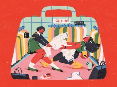 Black Friday Madness ecommerce fight people illustration buyers shop black friday sale black friday sale shopping people illustrations illustration art digital painting digital illustration illustrator design studio illustration graphic design digital art design
