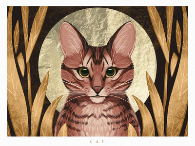 Cat Portrait Illustration digital artist digital artwork illustrations pets nature feline cat portrait animals characters procreate illustration art digital painting digital illustration illustrator design studio illustration graphic design digital art design