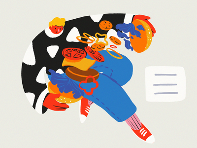 Hamburger Menu Illustration web design cooking interaction design ux design ui design blog illustration food hamburger hamburger menu designers illustrations illustration art digital painting digital illustration illustrator design studio illustration graphic design digital art design