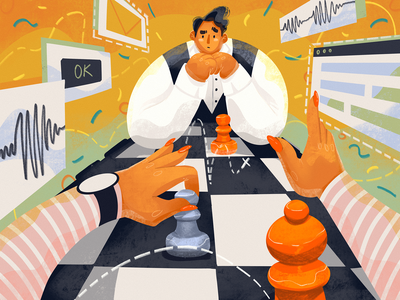 Usability Testing Illustration strategy chessboard ux design usability user experience game intelligence chess tubik blog blog illustration illustrations illustration art digital painting digital illustration illustrator design studio illustration graphic design digital art design