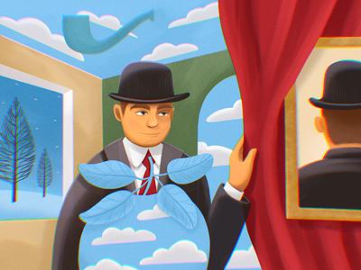 Artists' Universe: René Magritte creative illustration education history culture magritte surreal art surrealism artist art illustrations procreate illustration art digital painting digital illustration illustrator design studio illustration graphic design digital art design