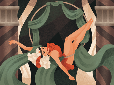 Vintage Performance trick entertainment performer vintage woman illustration performance show circus woman procreate illustrations illustration art digital painting digital illustration illustrator design studio illustration graphic design digital art design