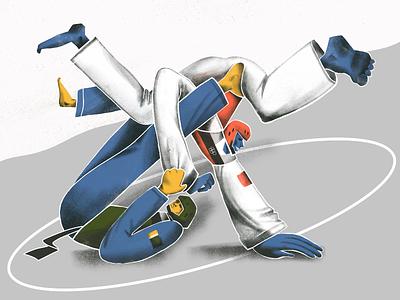 Summer Olympic Sports: Taekwondo procreate sport olympic games olympic taekwondo fighters fight martial art sports illustrations creative illustration illustration art digital painting digital illustration illustrator design studio illustration graphic design digital art design