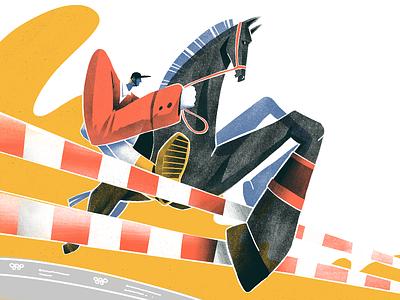 Summer Olympic Sports: Equestrian artwork jockey horse racing sport olympic games olympics equestrian horse riding riding procreate art illustrations illustration art digital painting digital illustration illustrator design studio illustration graphic design digital art design