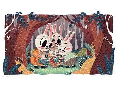 Happy Easter Bunny Fairytale childrens book book art book illustration fairytale bunnies rabbits spring easter bunny easter illustrations character illustration art digital painting digital illustration illustrator design studio illustration graphic design digital art design