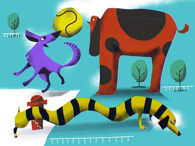 Paper World: Playful Dogs animal art animal illustration pets animals funny illustration paper art papercut dogs dog illustrations character illustration art digital painting digital illustration illustrator design studio illustration graphic design digital art design