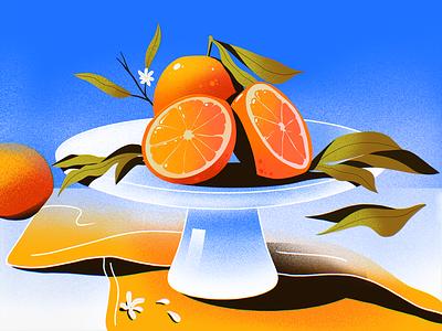 Juicy Vibes healthy eating nature morte food artwork fruit illustration fruit sunny oranges juicy procreate illustrations illustration art digital painting digital illustration illustrator design studio illustration graphic design digital art design