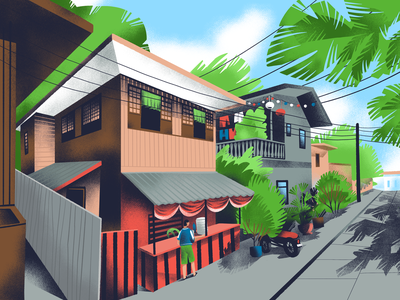 Random Streets: Vigan, Philippines house town procreate digital painting illustration art street view urban tourism travel architecture walk street city digital illustration illustrator design studio illustration graphic design digital art design