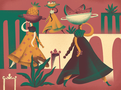 Autumn Tastes procreate artwork art illustrators illustration art warm women harvest fall autumn tasty fruit people digital illustration illustrator design studio illustration graphic design digital art design
