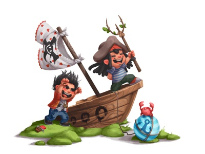 Character Design. Pirates of the Caribbean. game kids environment fan art character raster digital art design studio pirate film movie cartoon children illustrator design creative agency cg graphic design character design illustration
