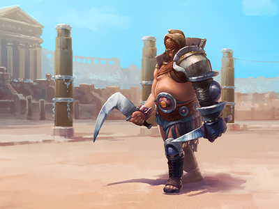 Character Design: Gladiator digital illustration game character game graphics game art fantasy raster creative agency character design design studio illustrator warrior game design cg environment character digital art graphic design gladiator illustration design