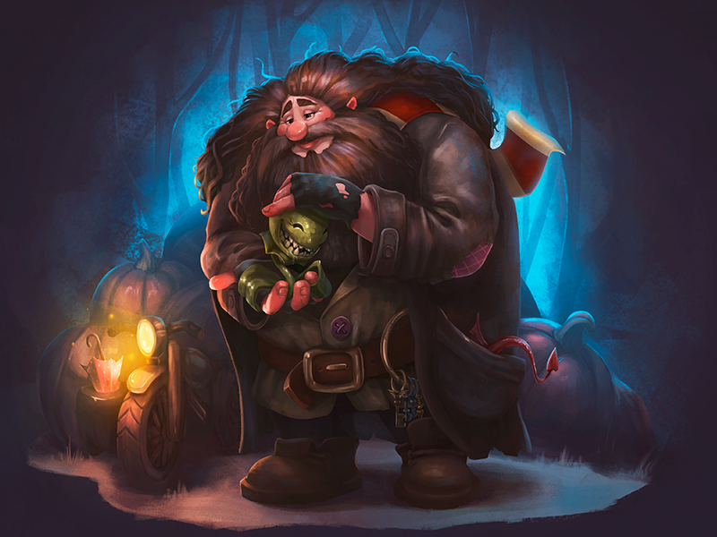 Character Design: Rubeus Hagrid. cg illustrator environment character hagrid harry potter book digital art illustration graphic design design