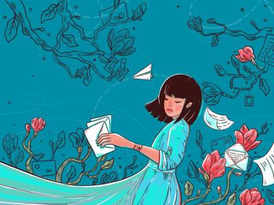 Communication Whirlpool Illustration