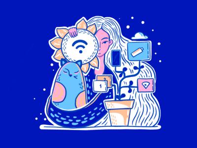 Recharge Creativity Illustration