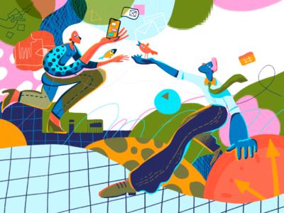 Creative Productivity Illustration
