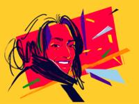 Zaha Hadid Digital Portrait