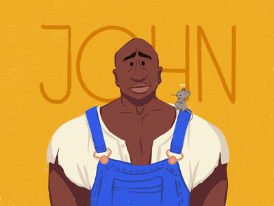John Coffey Illustration procreate people illustration man fan art stephen king cinematography film book movie digital illustration digital painting creative agency character character design illustrator illustration graphic design digital art design studio design