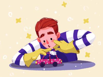 Car Cleaner Illustration