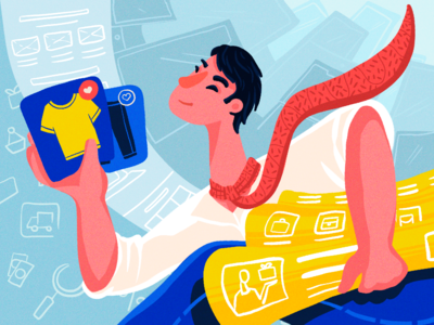 Ecommerce Interaction Design Illustration
