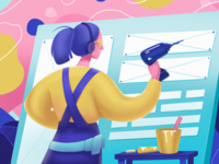 Designer Toolbox Illustration