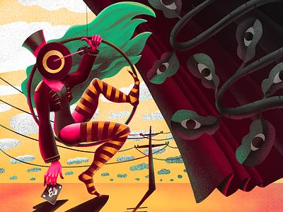 Circus Madness Illustration fantasy fantastic procreate artwork surreal art crazy surrealism fun entertainment circus illustration art character design character digital painting digital illustration illustration graphic design digital art design studio design