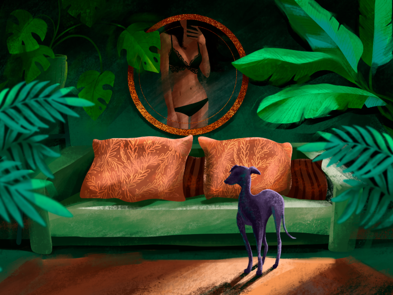 Green Room Illustration
