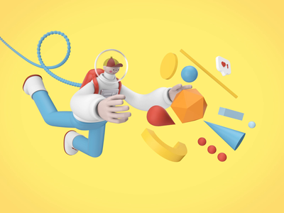 UX Spaceboy 3D Animation