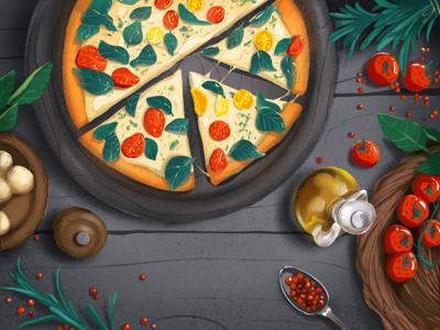 Italian Food Illustration