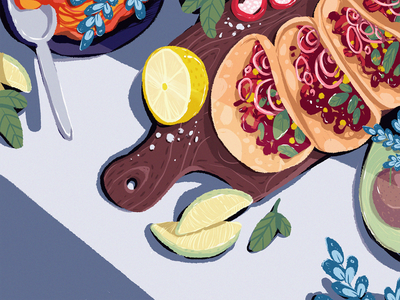 Mexican Food Illustration artwork creative illustration illustration art tacos restaurant cooking mexican food cuisine food illustration food art procreate digital painting digital illustration illustrator design studio illustration graphic design digital art design
