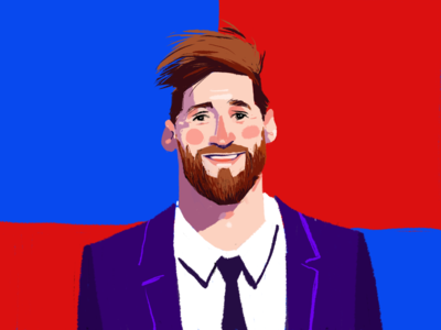 Lionel Messi Digital Portrait