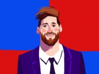 Lionel Messi Digital Portrait