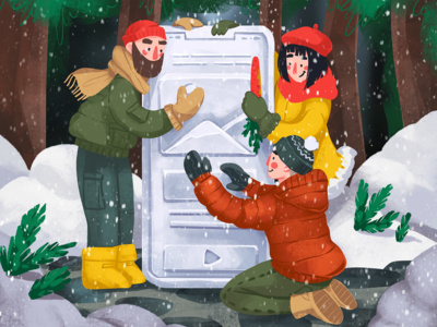 New Design Year Illustration