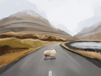 Road to Nature Illustration