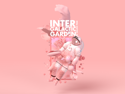 Intergalactic garden of Major Pink astronaut dimension major garden intergalactic