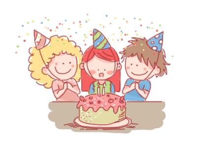 Happy Birthday! birthday cake birthday party fun party children child illustration birthday happy