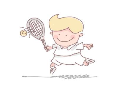 Tennis Players fun having sport illustration player tennis