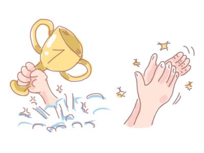 Winner! competition sport illustration cute fun clapping clap winner
