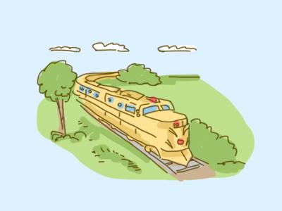 Train fun cute illustration train