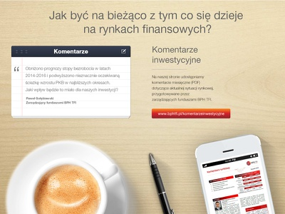 BPH tfi landing page page landing smartphone tablet www website webdesign web investing banking bph