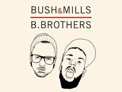 Bush & Mills the b.brothers characters character illustration whiskey irish bushmills