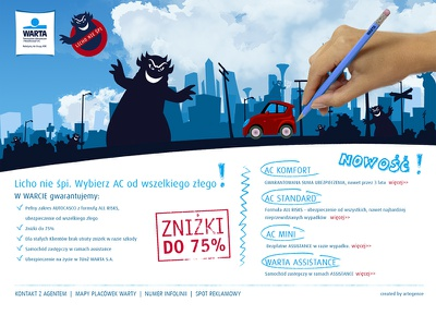 WARTA landing page śpi nie licho page landing landingpage website webdesign reinsurance insurance warta