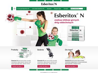 Esberitox N web webdesign layout www website pharmacy esberitox