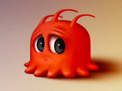 Orange monster wacom intuos illustration monster drawing photoshop
